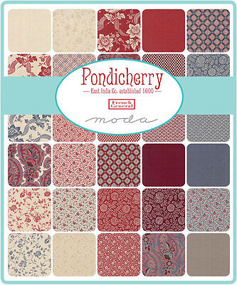 Patchwork/quilting Fabric Moda Charm Squares/packs - Pondicherry