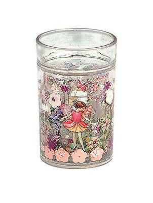 Flower Fairies Pink Glitter Shaker Beaker Children's Girl's Fairy Design Cup Mug