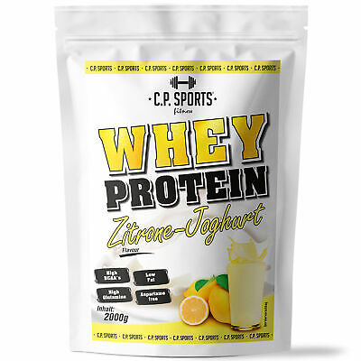 Whey Protein 2kg Eiweiss Shake Low Carb zuckerfrei Diät Low Carb aspartamfrei