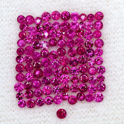 2.87 Cts Natural Fine Ruby Round Diamond Cut Lot 1.5 upto 2 mm Loose Oldmogok $