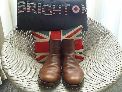 Vintage Mod Boots .english,  Loake Double Zipped Tan Boots. Size 7.
