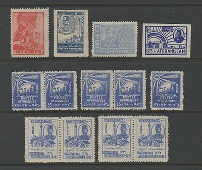 Afghanistan 1947-56 Small Mint Selection On Stock Card