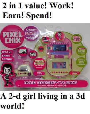 Pixel Chix Road Trippin' + Love to Shop (2-in-one Set) Playset w/ VW Bug Retired