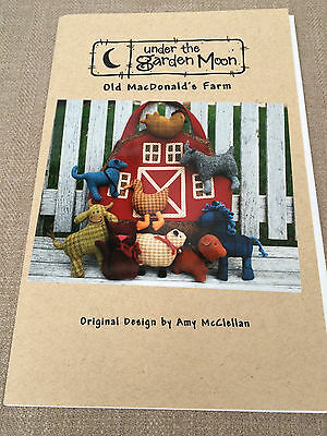 Old Macdonald's Farm Play Bag And Animals Stitchery Sewing Pattern From Usa