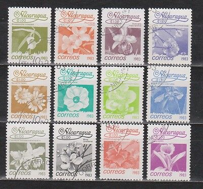 Nicarágua - 1983 - Flowers - 12 Different Stamps