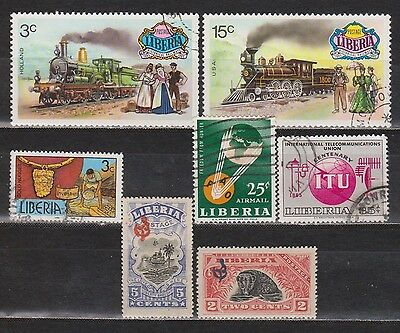 Libéria - 1918-1976 - 7 Different Stamps - Mh/used