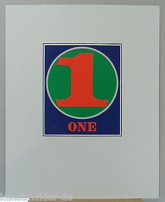 "Museal: Robert INDIANA ""Numbers"" Edition 1968 in Siebdruck ! ONE (g15)"