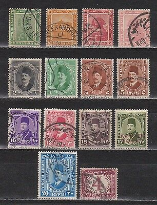 Egypt - 1889-1952 - 14 Different Stamps