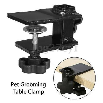 Metal Iron Dog Pet Cat Animal Grooming Table Arm H Bar Clamp Clip Aid Holder