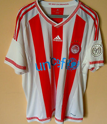 Jubilee jersey of Olympiakos for the 90th  anniversary 1925 - 2015