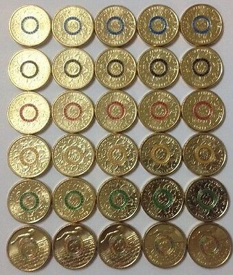 $2 -Full Set of Australia 2016 Olympic & Paralympic 2 Dollar Coins x5 (30 Coins)