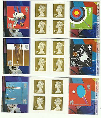 6x PM30   PM26  PM24  PM21 PM32 Olympics and Paralympics Stamp booklets Mint