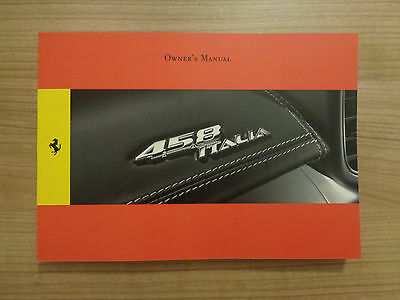 Ferrari 458 Italia Owners Handbook/Manual