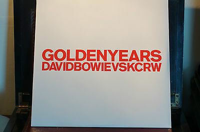 """Rare David Bowie Golden Years vs KRCW 12"""" Single MINT Sealed NEW"""