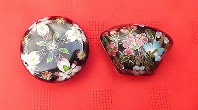 Pair of Cloisonne trinket (pill) boxes,