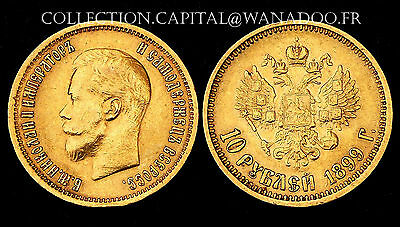 10 Roubles 1899 АГ. RUSSIE. Or/Gold