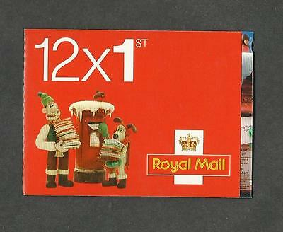 5x LX40 2010 Wallace and Gromit 12 x 1st Christmas Booklet