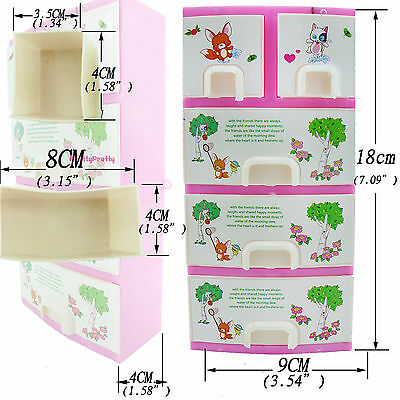 Wardrobe Shoebox Lockers Cloest For Barbie Dollhouse Furniture Accessories Gift