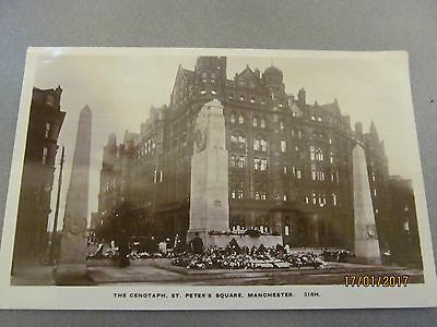 old st.peters square manchester postcard