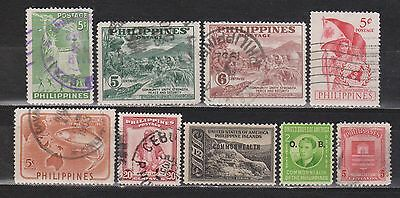 Philippines / Filipinas - 1936-1952 - 9 Different Stamps - Mh/used