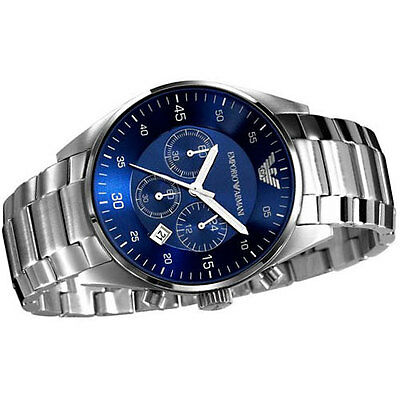 NEW EMPORIO ARMANI AR5860 MENS STEEL CHRONOGRAPH WATCH 20% Off