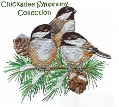 Chickadee Symphony Collection - Machine Embroidery Designs On Cd