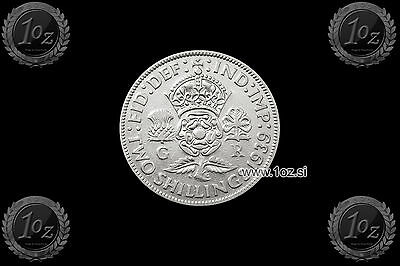 UNITED KINGDOM (GB) ENGLAND 2 SHILLINGS 1939 (GEORGE VI) SILVER Coin (KM#855) VF
