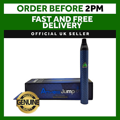 New Atmos Portable JUMP Carbon Blue Compact Aromatherapy Dry Herb Vaporizer Pen