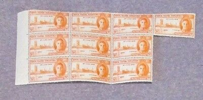 KUT SG155 small mint block 10 stamps
