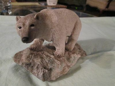 Polar Bear Figurine on Rocks out of stone or resin composite