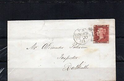 GB cover, 1858 Hanover Street, Edinburgh and Dalkeith REDUCED