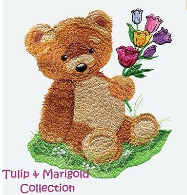 Tulip & Marigold Collection - Machine Embroidery Designs On Cd