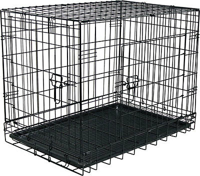 """29.5"""" x 20"""" Folding Dog Crate with Suspended Floor Tray"""