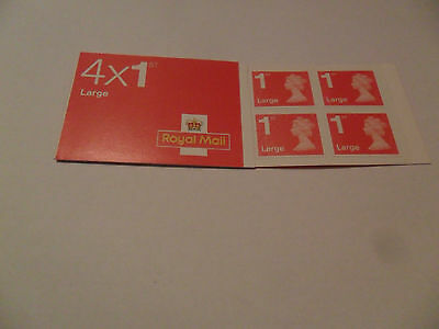New Royal Mail Book of 4 x 1st Class Large Stamps