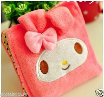My Melody Pink Plush Bow Sanitary Napkins Pads Carrying Easy Bag ML32