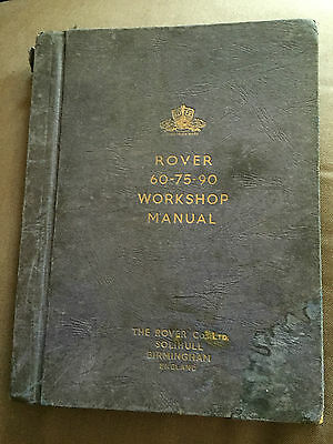 "1954 ""rover 60-75-90 Parts Catalogue"" Illustrated Large Hardback Book"