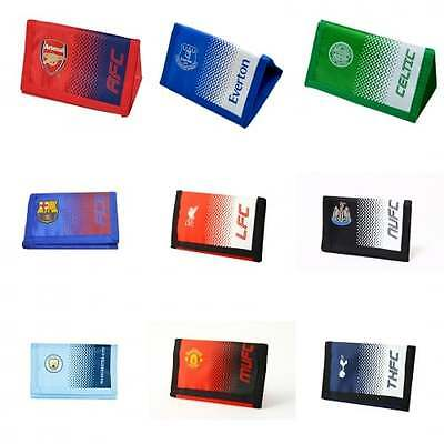 Official Football Team Fade Wallet - Soccer Club Crest Kids - NEW GIFTS