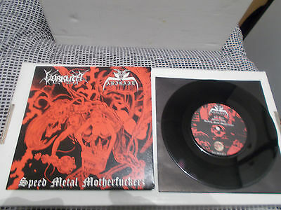 "VORKUTA / ABIGAIL Split 7"" EP Gatefold  Speed Metal Ltd 400 Copies! sigh nwnprod"