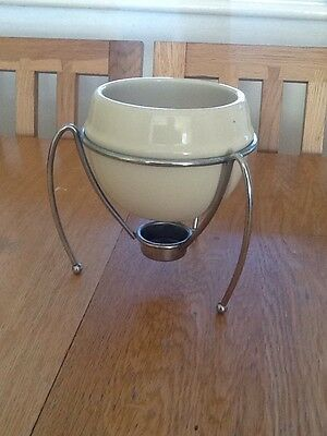fondue bowl and stand only .