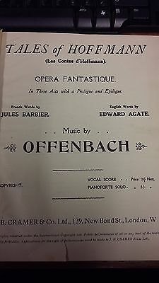 Offenbach: Tales Of Hoffmann: Vocal Music Score