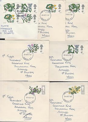 Gb 1966 British Flowers Set On First Day Covers (7)