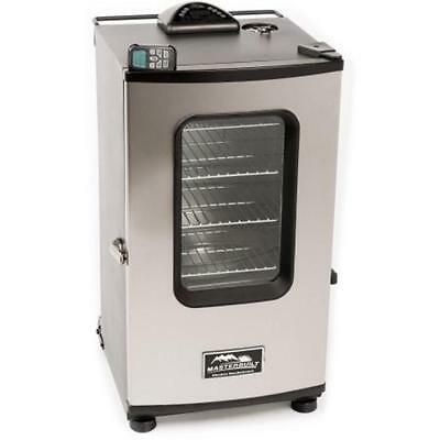 """Masterbuilt 30"""" Electric Smoker with Window and Remote Stainless Steel 20070411"""