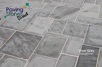 Natural Paving Slabs~Silver Grey ~Calibrated ~19.1m2 Pack. 5 Sizes in the pack.