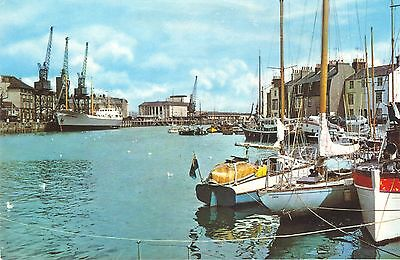 Old Postcard Of The Harbour Weymouth