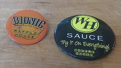 Waffle House BIONIC and SAUCE try it on everything! collectors pins