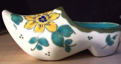 """Gouda Holland  Hand Painted Floral  Small Clog 5-1/2""""long X  2""""high"""