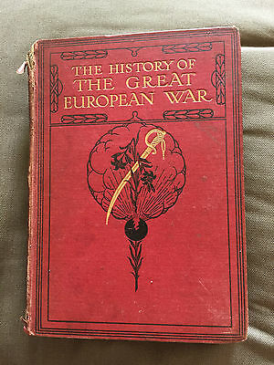 "1915 Ww1 ""the History Of The Great European War"" Vol2 Illustrated Hardback Book"