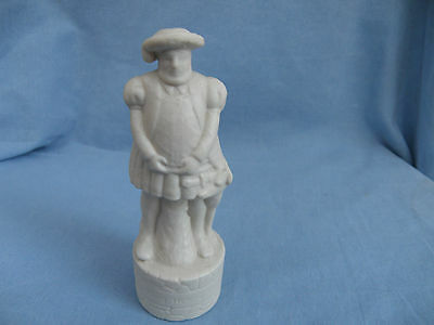 Wade Pottery White Chess Piece Decanter Of King Henry Viii