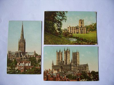 3 GNR POSTCARDS/ CATHEDRAL SERIES/ FAMOUS ABBEYSlincoln