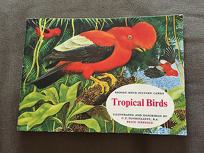 """1960s """"TROPICAL BIRDS"""" INCOMPLETE BROOKE BOND TEA CARDS AND BOOK"""